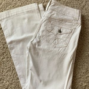 Cabi white jeans 343R denim boot cut